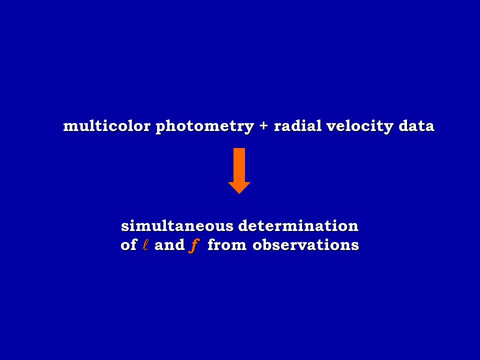simultaneous determination of  and f from observations