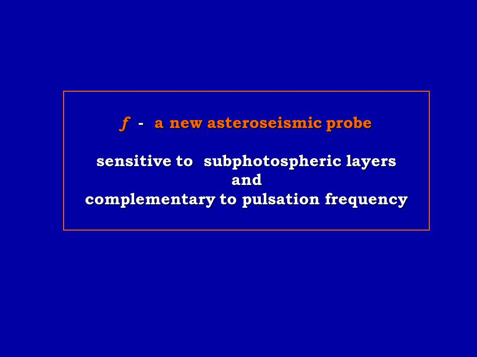 f - a new asteroseismic probe sensitive to subphotospheric layers and