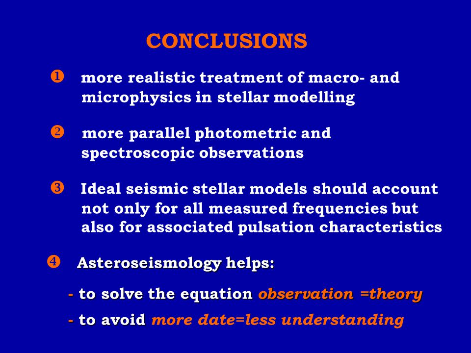 CONCLUSIONS  more realistic treatment of macro- and