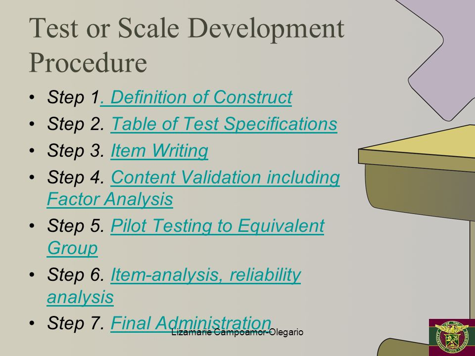 Test or Scale Development Procedure