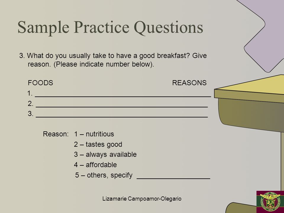 Sample Practice Questions