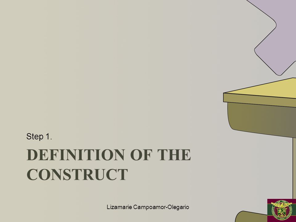 Definition of the construct