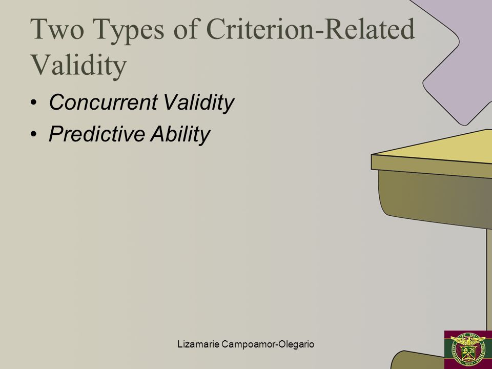 Two Types of Criterion-Related Validity