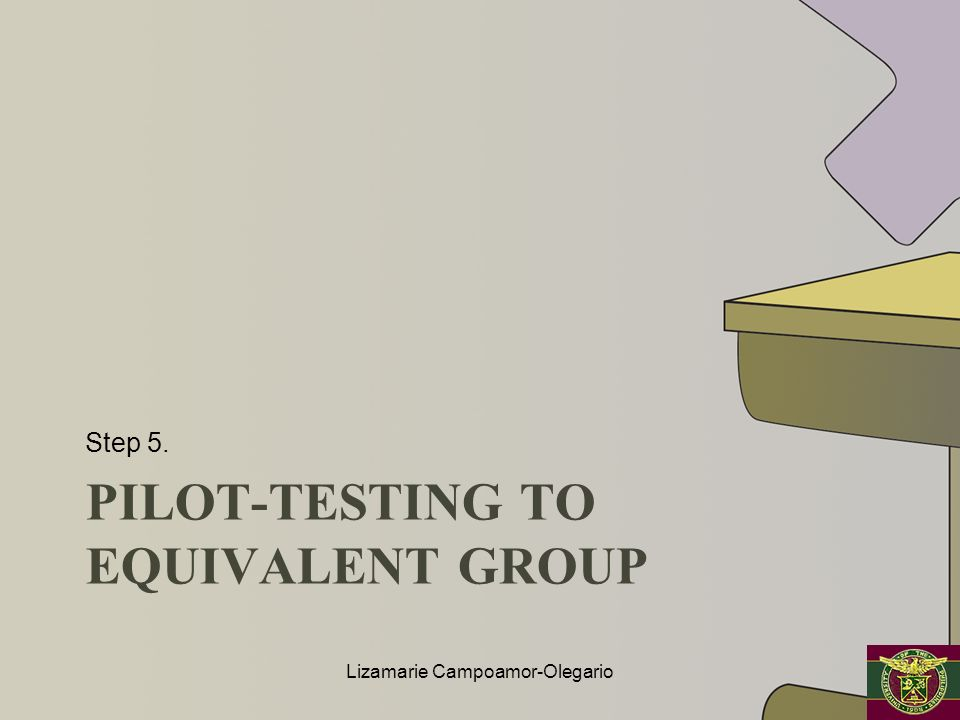 Pilot-testing to equivalent group