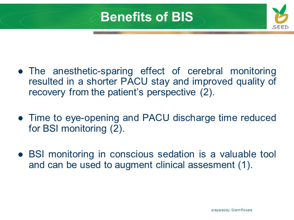 Benefits of BIS