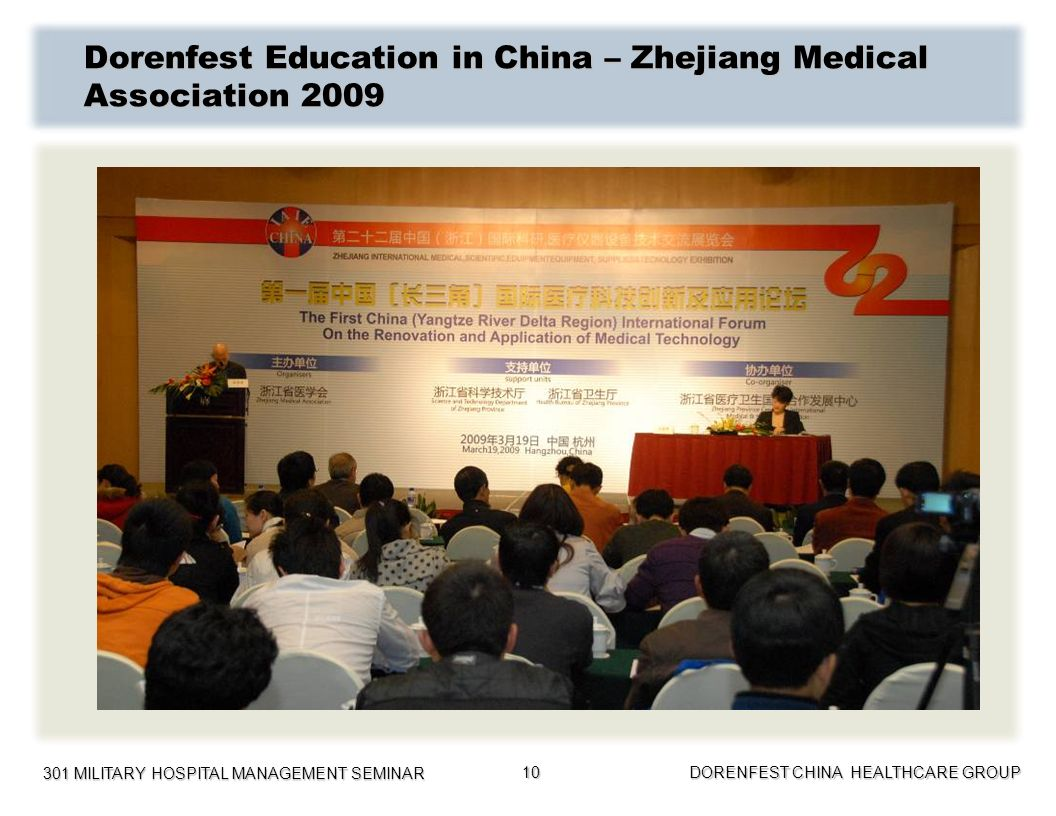 Dorenfest Education in China – Zhejiang Medical Association 2009