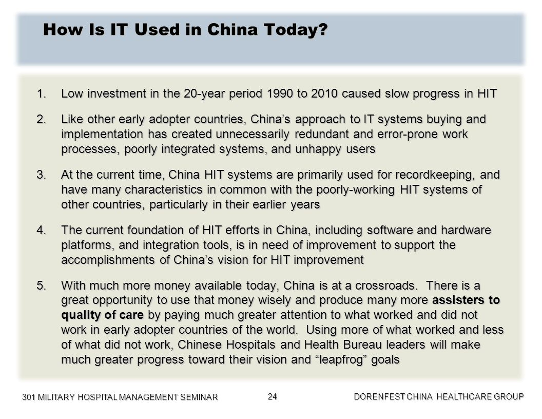 How Is IT Used in China Today