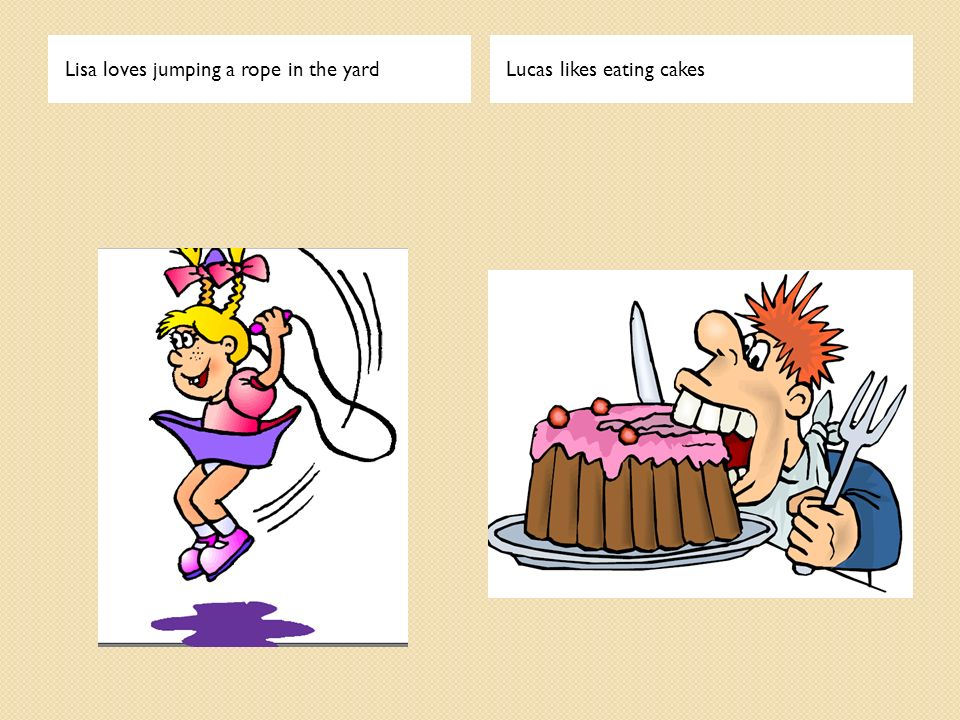 Lisa loves jumping a rope in the yard