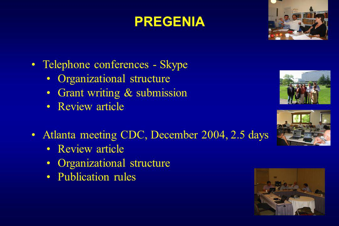 PREGENIA Telephone conferences - Skype Organizational structure