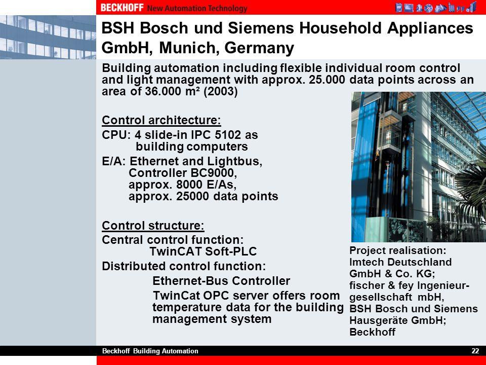 BSH Bosch und Siemens Household Appliances GmbH, Munich, Germany