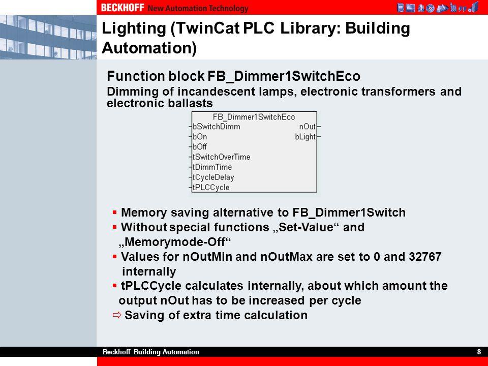 Lighting (TwinCat PLC Library: Building Automation)
