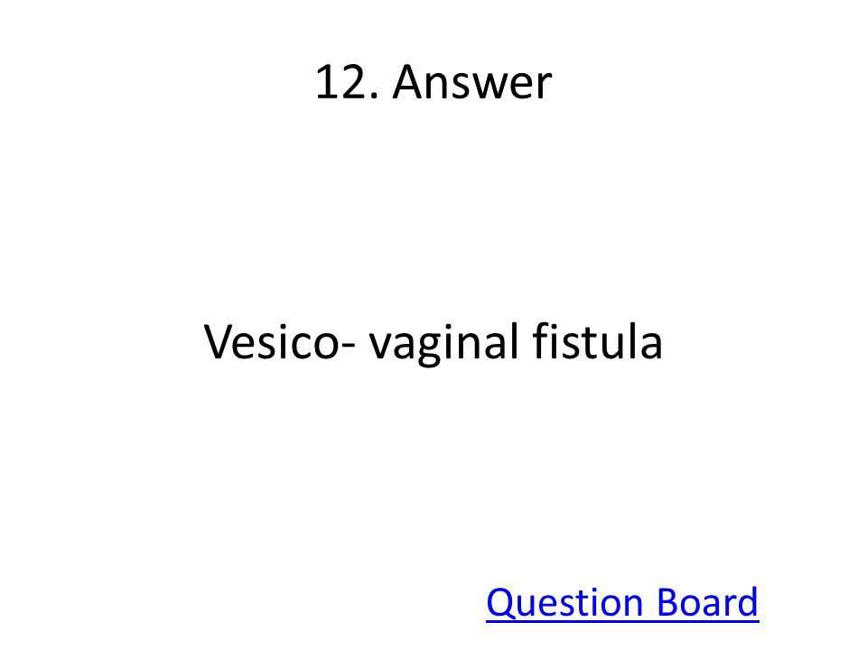 Vesico- vaginal fistula