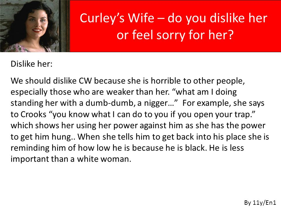 Dislike her: