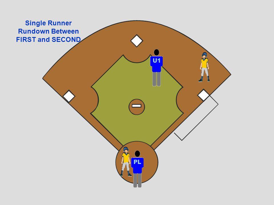 Single Runner Rundown Between FIRST and SECOND