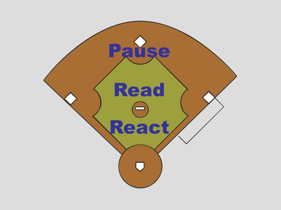Pause Read. React. We work off of a three-step process to prepare for any play and subsequent call.