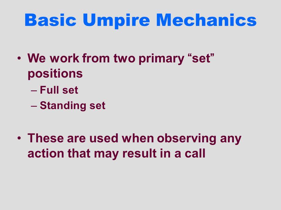Basic Umpire Mechanics
