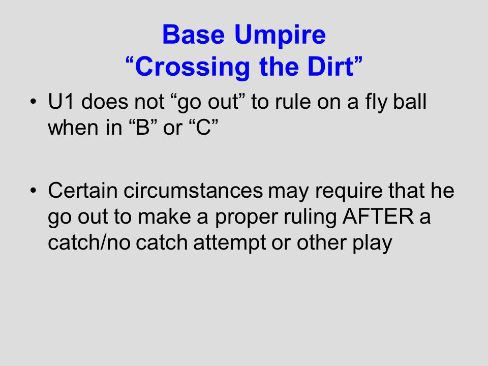 Base Umpire Crossing the Dirt
