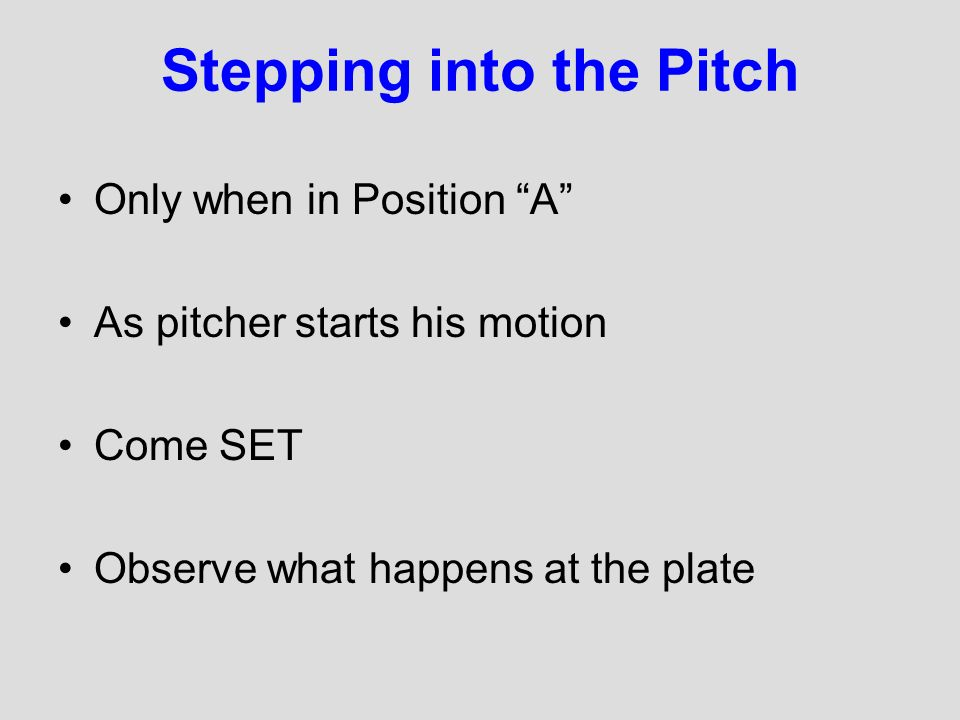 Stepping into the Pitch