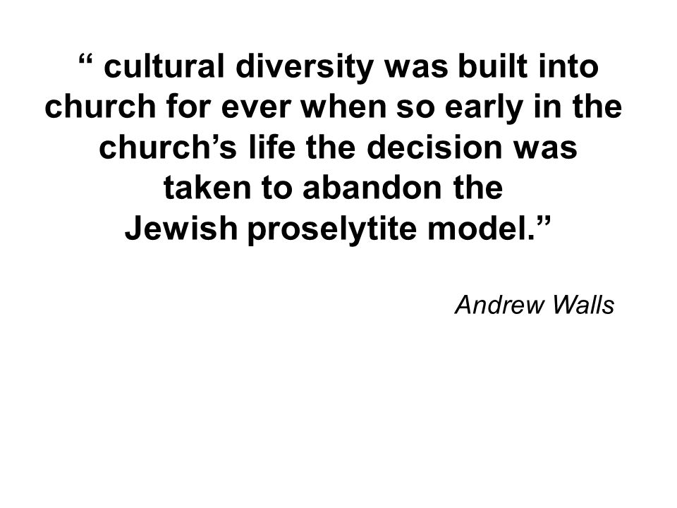 cultural diversity was built into