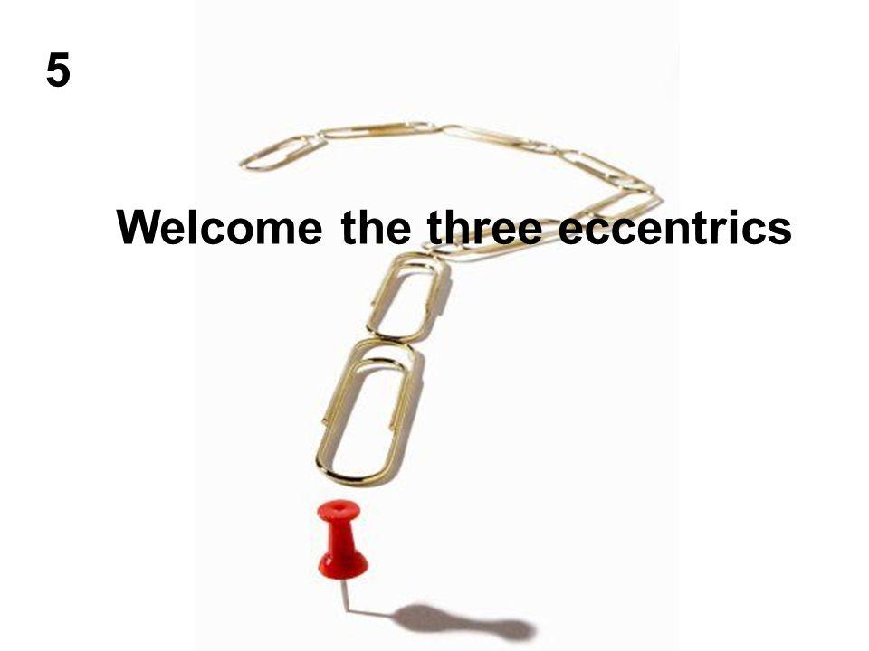 Welcome the three eccentrics