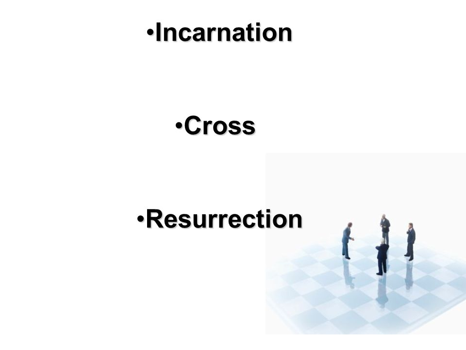 Incarnation Cross Resurrection