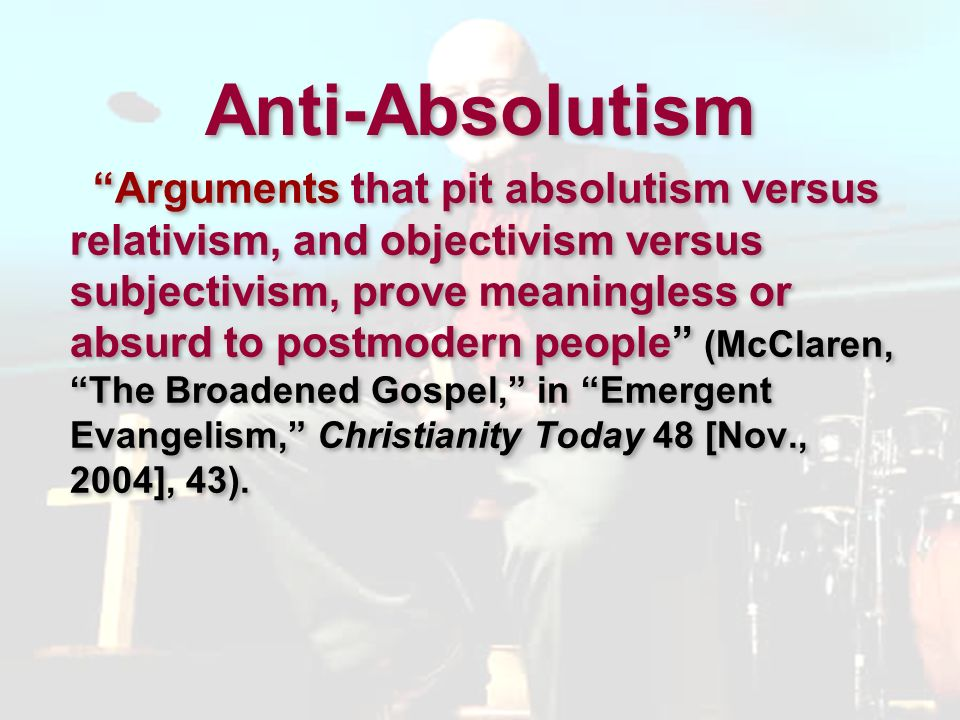Anti-Absolutism