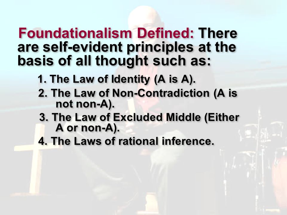 1. The Law of Identity (A is A).