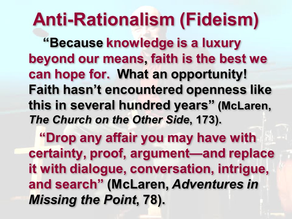 Anti-Rationalism (Fideism)