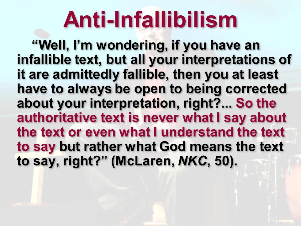 Anti-Infallibilism