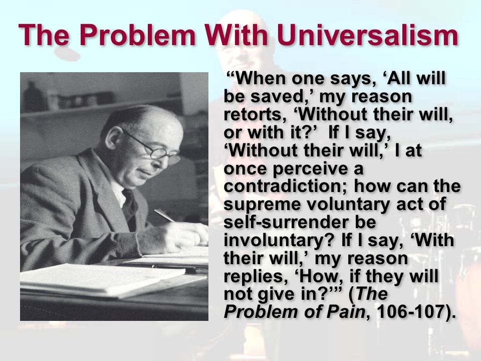 The Problem With Universalism