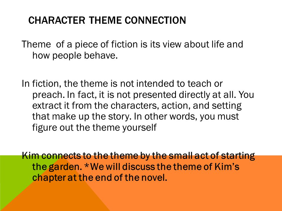 Character theme connection