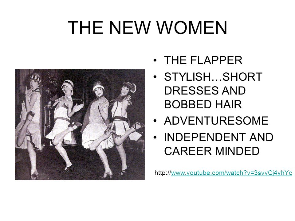 THE NEW WOMEN THE FLAPPER STYLISH…SHORT DRESSES AND BOBBED HAIR