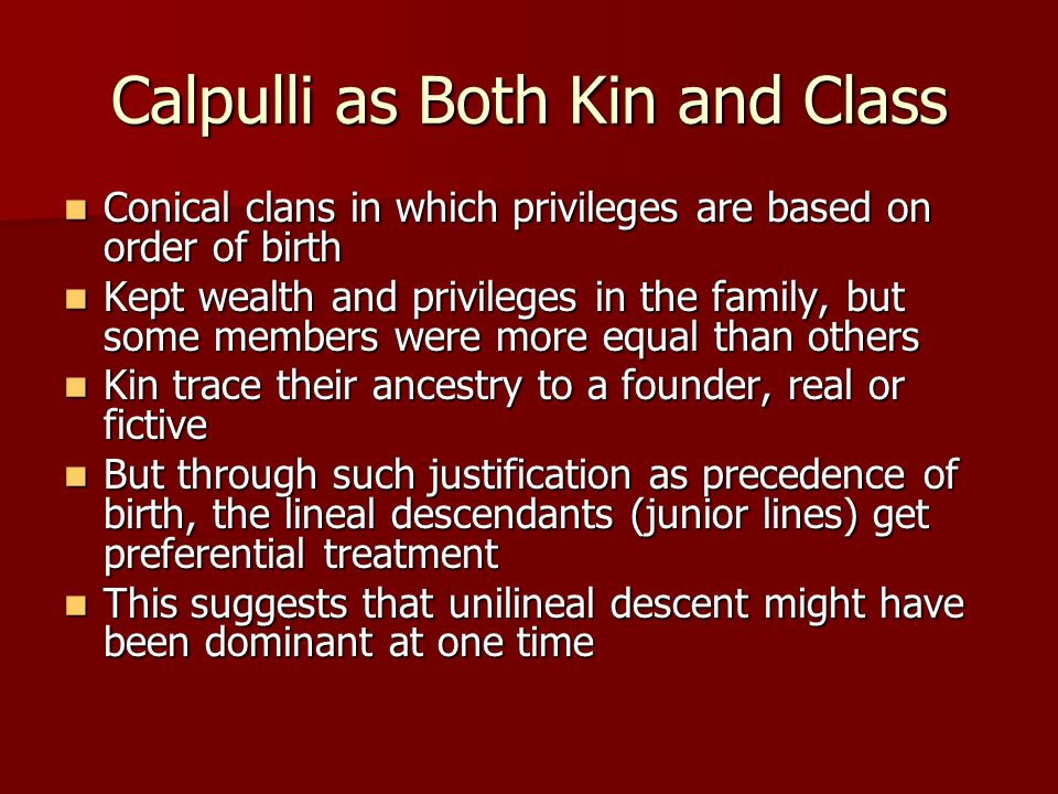 Calpulli as Both Kin and Class