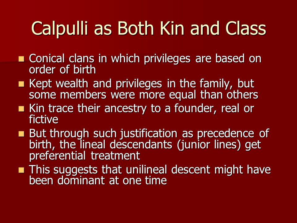 Calpulli as Both Kin and Class