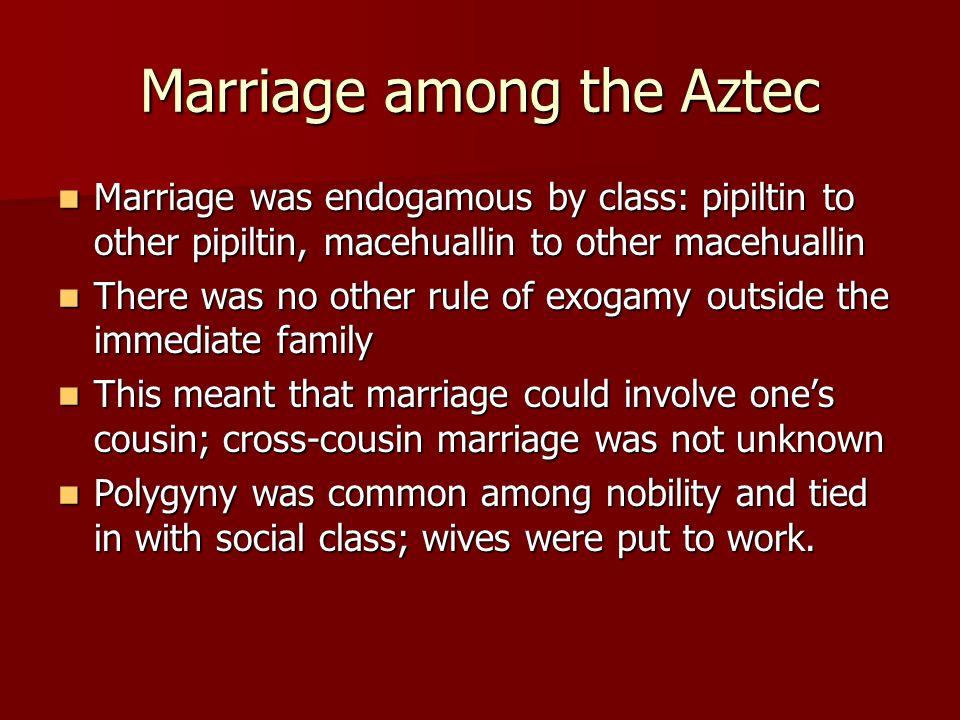 Marriage among the Aztec