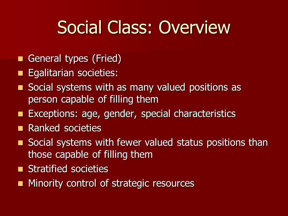 Social Class: Overview