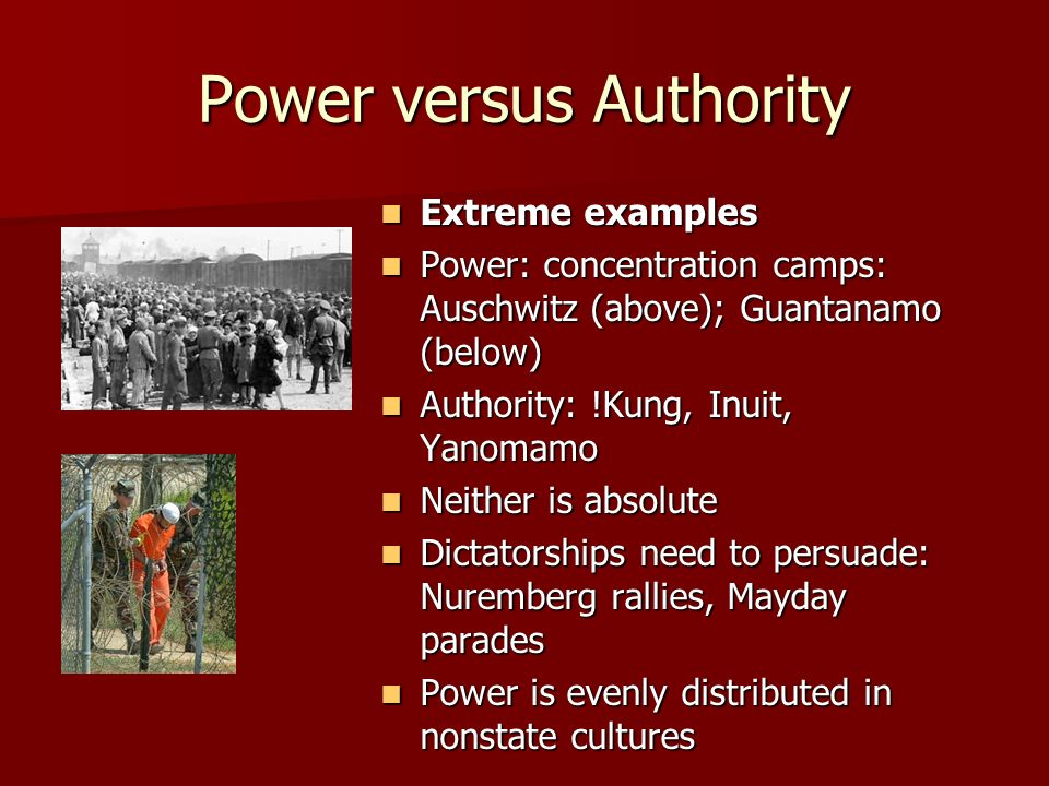 Power versus Authority