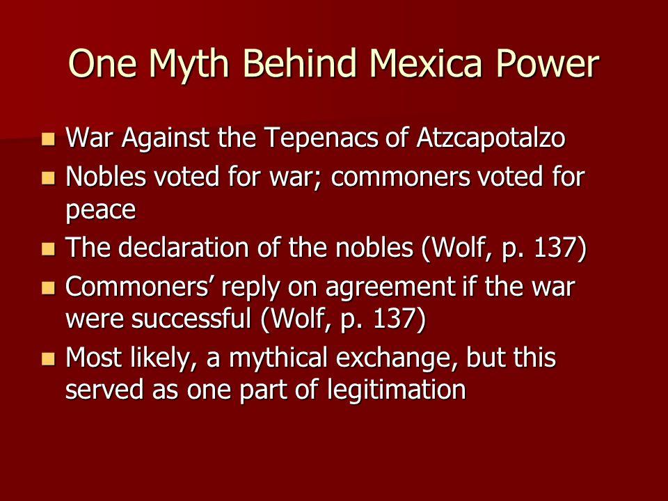 One Myth Behind Mexica Power