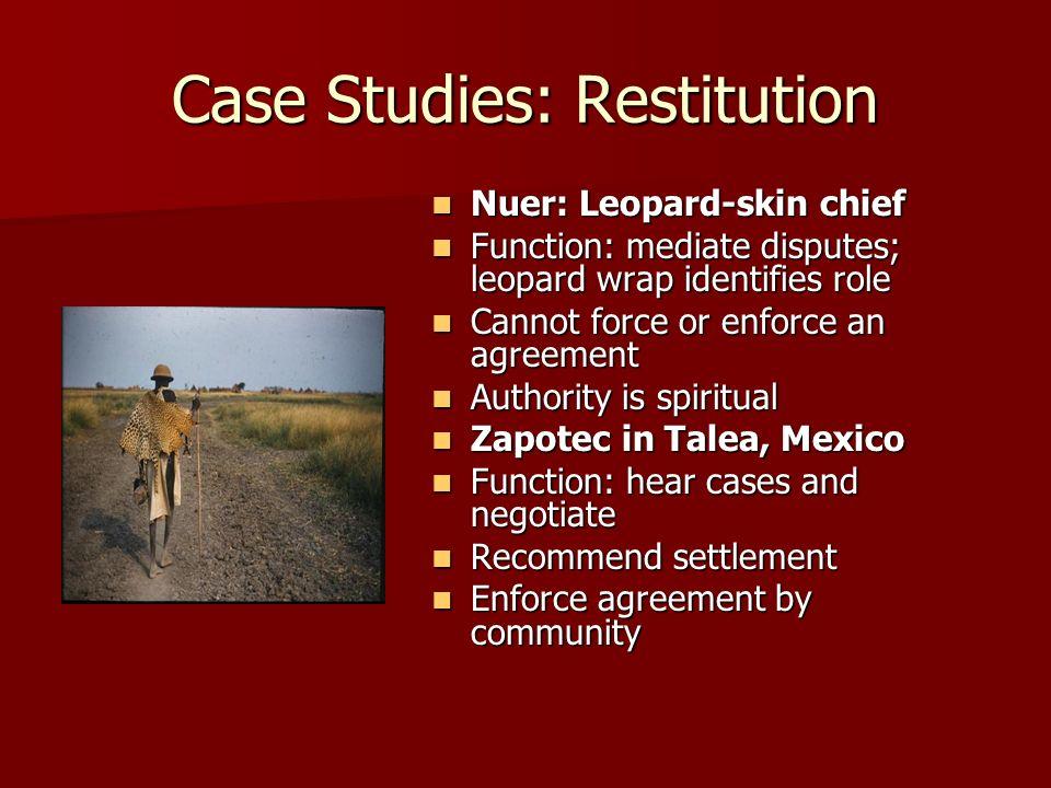 Case Studies: Restitution
