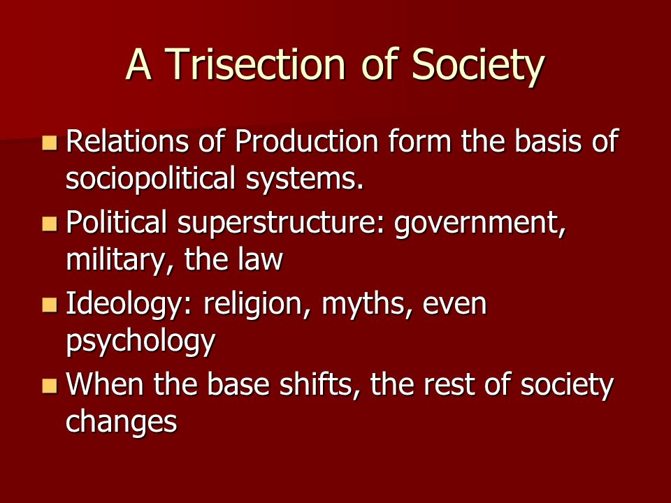 A Trisection of Society