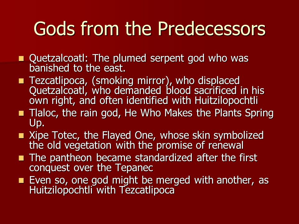 Gods from the Predecessors