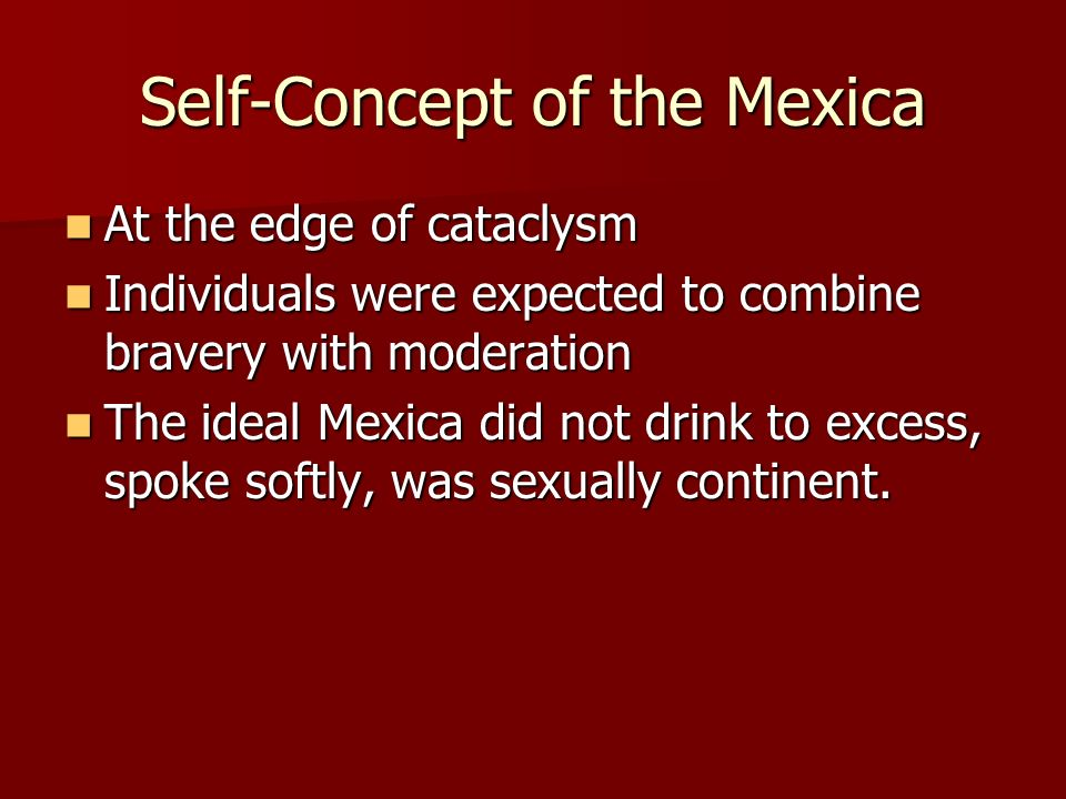Self-Concept of the Mexica