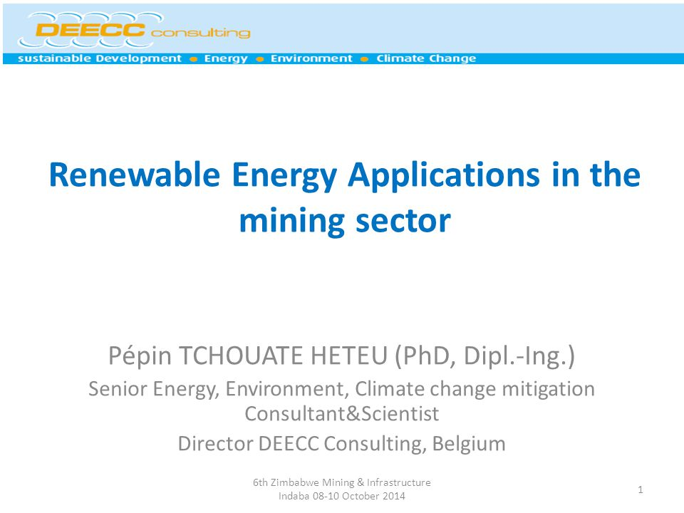 Renewable Energy Applications in the mining sector
