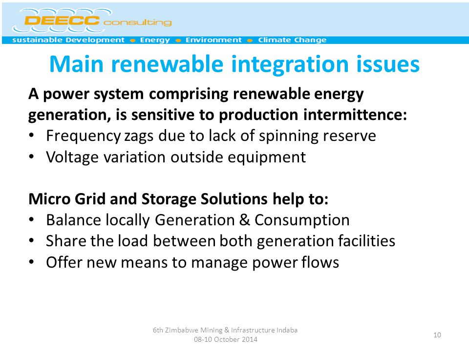 Main renewable integration issues