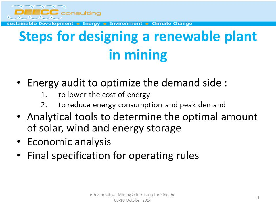 Steps for designing a renewable plant in mining