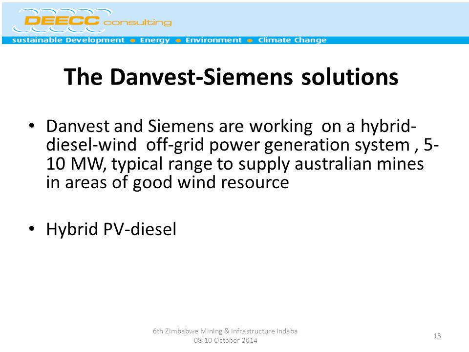 The Danvest-Siemens solutions