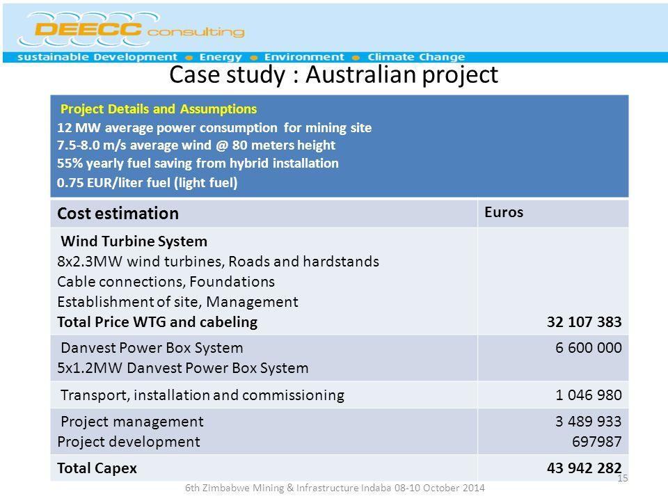Case study : Australian project