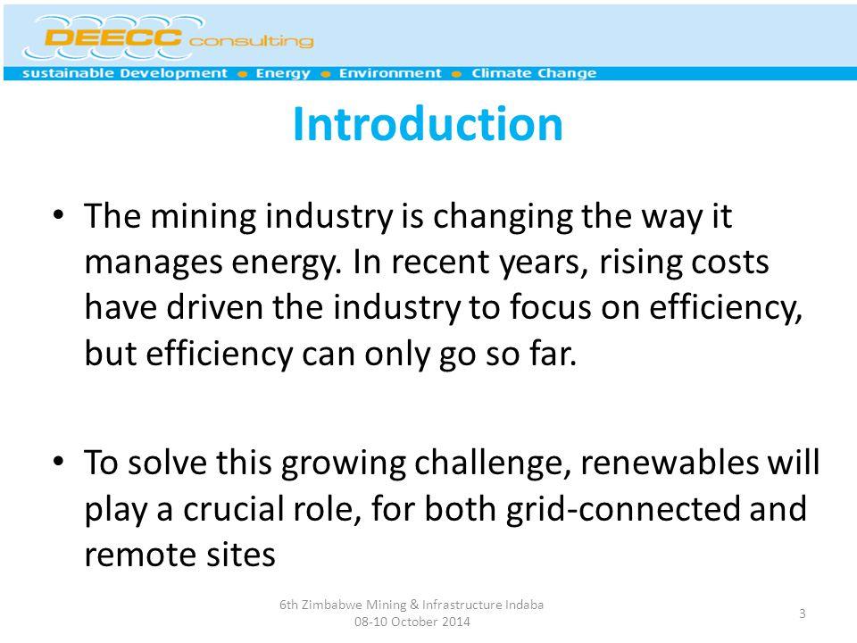 6th Zimbabwe Mining & Infrastructure Indaba 08-10 October 2014