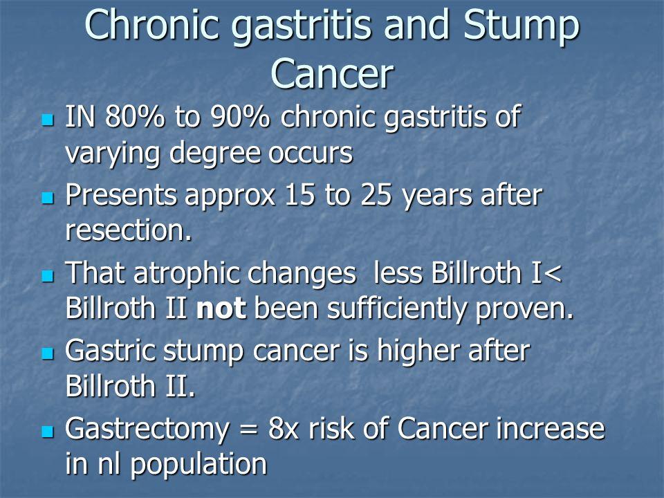 Chronic gastritis and Stump Cancer