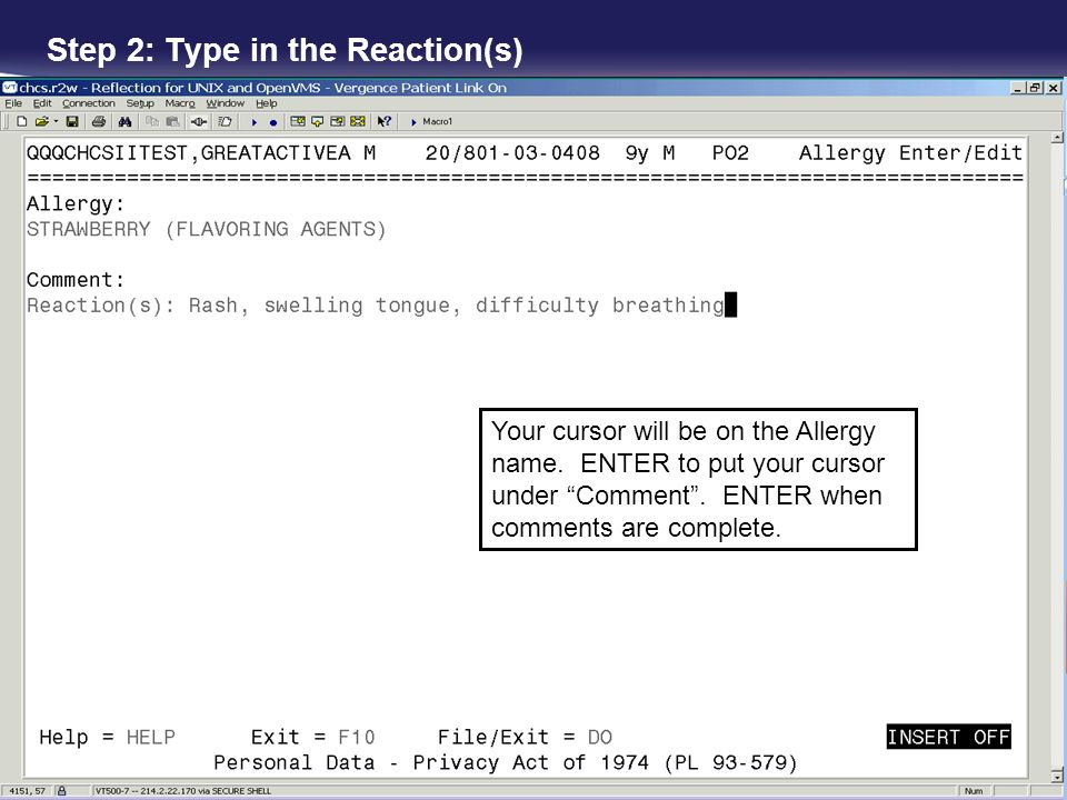 Step 2: Type in the Reaction(s)